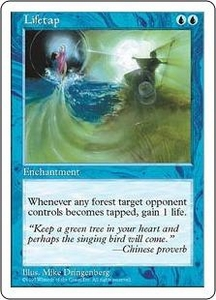 Magic the Gathering Fifth Edition Single Card Uncommon Lifetap