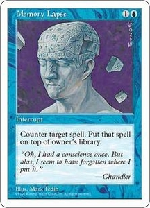 Magic the Gathering Fifth Edition Single Card Common Memory Lapse