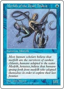 Magic the Gathering Fifth Edition Single Card Common Merfolk of the Pearl Trident