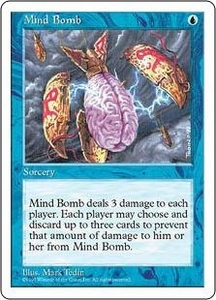 Magic the Gathering Fifth Edition Single Card Uncommon Mind Bomb