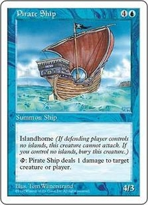 Magic the Gathering Fifth Edition Single Card Rare Pirate Ship