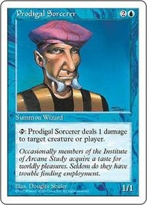 Magic the Gathering Fifth Edition Single Card Common Prodigal Sorcerer