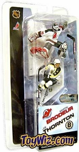 McFarlane Toys NHL 3 Inch Sports Picks Series 1 Mini Figure 2-Pack Martin Brodeur (New Jersey Devils) & Joe Thornton (Boston Bruins)