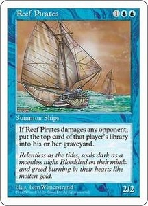 Magic the Gathering Fifth Edition Single Card Common Reef Pirates