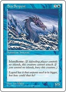 Magic the Gathering Fifth Edition Single Card Common Sea Serpent