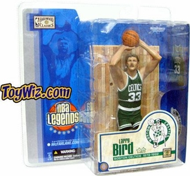 McFarlane Toys NBA Sports Picks Legends Series 1 Action Figure Larry Bird (Boston Celtics) Green Jersey