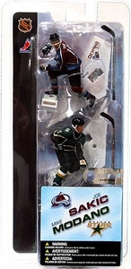 McFarlane Toys NHL 3 Inch Sports Picks Series 1 Mini Figure 2-Pack Joe Sakic (Colorado Avalanche) & Mike Modano (Dallas Stars)