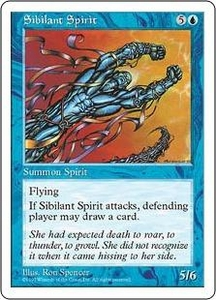 Magic the Gathering Fifth Edition Single Card Rare Sibilant Spirit