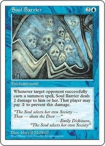 Magic the Gathering Fifth Edition Single Card Common Soul Barrier