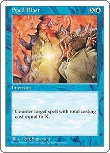 Magic the Gathering Fifth Edition Single Card Common Spell Blast