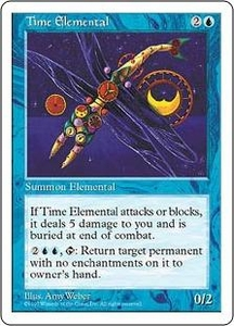 Magic the Gathering Fifth Edition Single Card Rare Time Elemental
