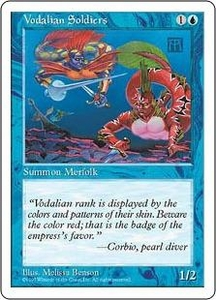 Magic the Gathering Fifth Edition Single Card Common Vodalian Soldiers