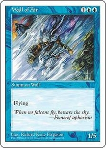 Magic the Gathering Fifth Edition Single Card Uncommon Wall of Air