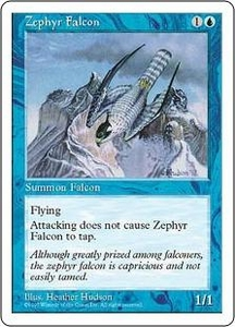 Magic the Gathering Fifth Edition Single Card Common Zephyr Falcon