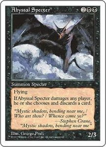 Magic the Gathering Fifth Edition Single Card Uncommon Abyssal Specter