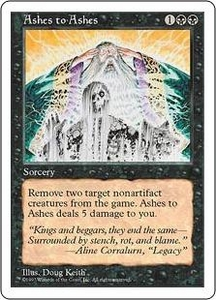 Magic the Gathering Fifth Edition Single Card Uncommon Ashes to Ashes