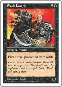 Magic the Gathering Fifth Edition Single Card Uncommon Black Knight