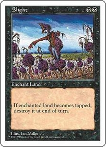Magic the Gathering Fifth Edition Single Card Uncommon Blight