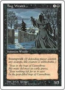 Magic the Gathering Fifth Edition Single Card Uncommon Bog Wraith