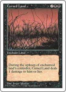 Magic the Gathering Fifth Edition Single Card Uncommon Cursed Land
