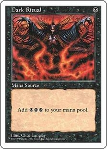 Magic the Gathering Fifth Edition Single Card Common Dark Ritual