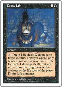 Magic the Gathering Fifth Edition Single Card Common Drain Life