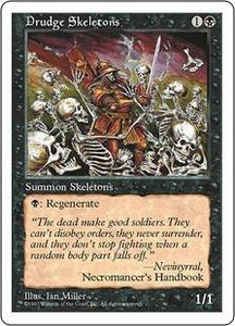 Magic the Gathering Fifth Edition Single Card Common Drudge Skeletons