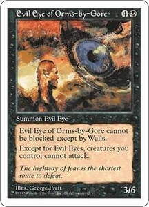 Magic the Gathering Fifth Edition Single Card Uncommon Evil Eye of Orms-by-Gore