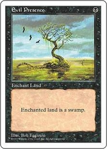 Magic the Gathering Fifth Edition Single Card Uncommon Evil Presence