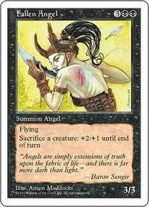 Magic the Gathering Fifth Edition Single Card Uncommon Fallen Angel