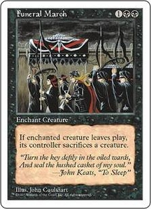Magic the Gathering Fifth Edition Single Card Common Funeral March