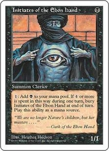 Magic the Gathering Fifth Edition Single Card Common Initiates of the Ebon Hand