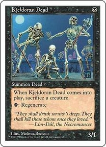 Magic the Gathering Fifth Edition Single Card Common Kjeldoran Dead