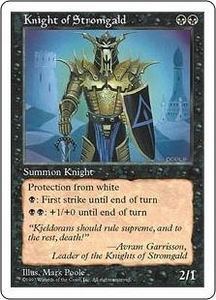 Magic the Gathering Fifth Edition Single Card Uncommon Knight of Stromgald