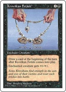 Magic the Gathering Fifth Edition Single Card Common Krovikan Fetish