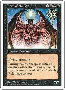 Magic the Gathering Fifth Edition Single Card Rare Lord of the Pit