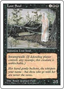 Magic the Gathering Fifth Edition Single Card Common Lost Soul