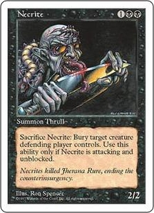 Magic the Gathering Fifth Edition Single Card Common Necrite