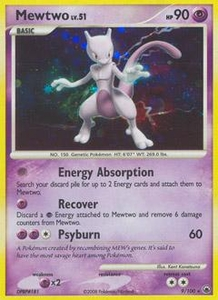 Pokemon Card Game DP Diamond & Pearl Majestic Dawn Single Card Rare #9 Mewtwo