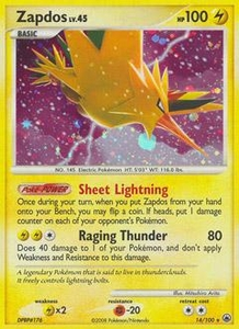 Pokemon Card Game DP Diamond & Pearl Majestic Dawn Single Card Rare #14 Zapdos