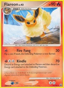 Pokemon Card Game DP Diamond & Pearl Majestic Dawn Single Card Rare #19 Flareon
