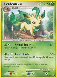 Pokemon Card Game DP Diamond & Pearl Majestic Dawn Single Card Rare #24 Leafeon