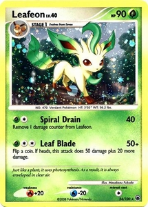 Pokemon Card Game DP Diamond & Pearl Majestic Dawn Single Card Rare Holo #24 Leafeon