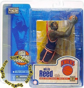 McFarlane Toys NBA Sports Picks Legends Series 1 Action Figure Willis Reed (New York Knicks) Blue Jersey Variant Damaged Package, Mint Contents!