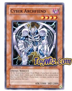 YuGiOh Cybernetic Revolution Single Card Common CRV-EN019 Cyber Archfiend