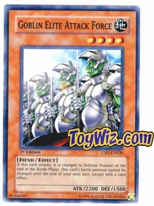 YuGiOh Cybernetic Revolution Single Card Super Rare CRV-EN020 Goblin Elite Attack Force