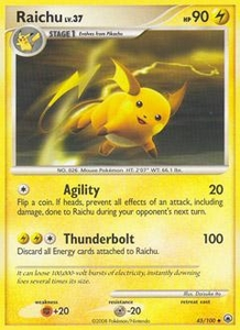 Pokemon Card Game DP Diamond & Pearl Majestic Dawn Single Card Uncommon #45 Raichu