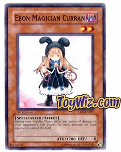 YuGiOh Cybernetic Revolution Single Card Common CRV-EN031 Ebon Magician Curran