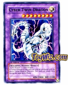 YuGiOh Cybernetic Revolution Single Card Super Rare CRV-EN035 Cyber Twin Dragon