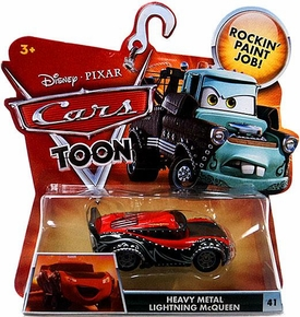 Disney / Pixar CARS TOON 1:55 Die Cast Car Heavy Metal Lightning McQueen